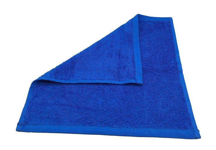 Set of 12 Royal Blue 12 X 12 Cotton Washcloths Bathroom Hand Towel Free Shipping #Goza