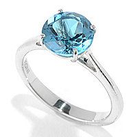 "149-070 - Gem Treasures® Sterling Silver 8mm Gemstone ""Kellie Anne"" Solitaire Ring"