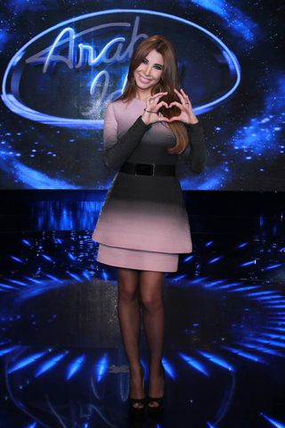 Check out Nancy Ajram's Best Looks at Arab Idol 2014 Nancy Ajram in Elie Saab