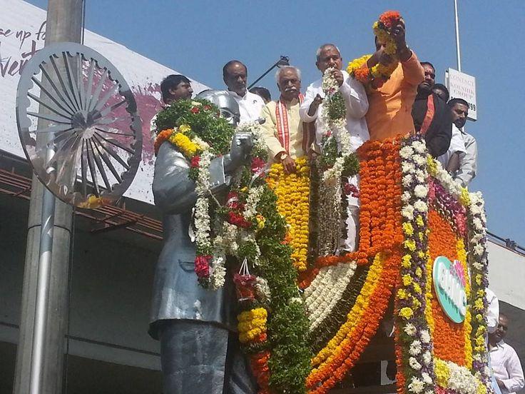 BJP leaders pays tribute to DR. B.R. Ambedkar
