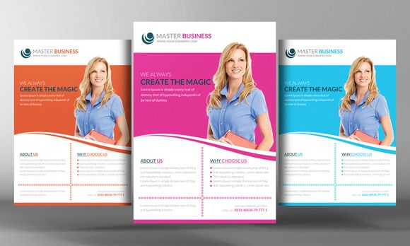 Corporate Business Flyer Template by Business Templates on @graphicsmag