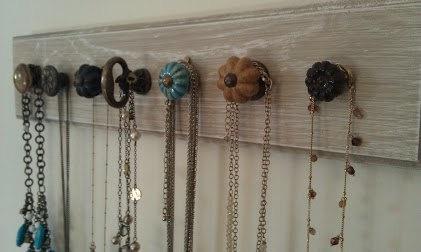 Jewelry Hanger Necklace Display Wall Art by CorbinandCooper, $38.90