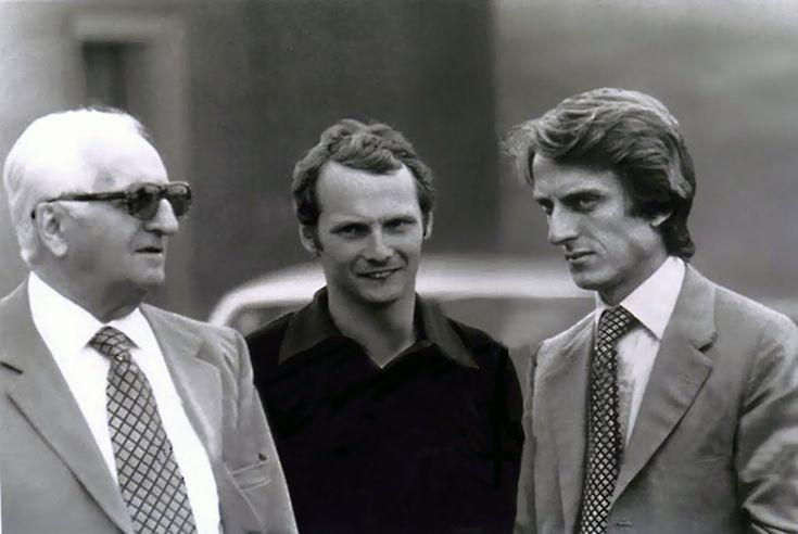 Enzo Ferrari, Niki Lauda and  Luca di Montezemolo
