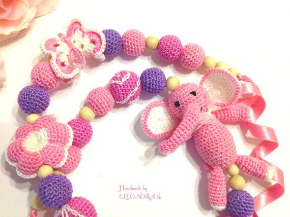 Nursing breastfeeding teething necklace with by ILoveAmigurumi