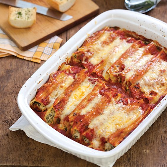 371 best recipes pork sausage bacon dinner images on serve this cheesy manicotti with garlic bread and a simple italian salad forumfinder Gallery