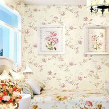 Rústico subiu romântico não tecido flor papel de parede papel de parede floral menina para viver quarto quarto papel de parede papel de parede floral(China (Mainland))