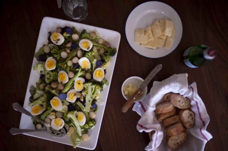 Salad Gribiche  Inspired by Judy Rodgers's Four-Minute Egg Gribiche in The Zuni Café Cookbook