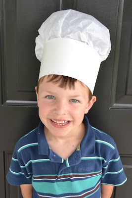 Simple Chef Hats for Kids - Ideal for a Baking Party or just to make kids feel special as they help you cook