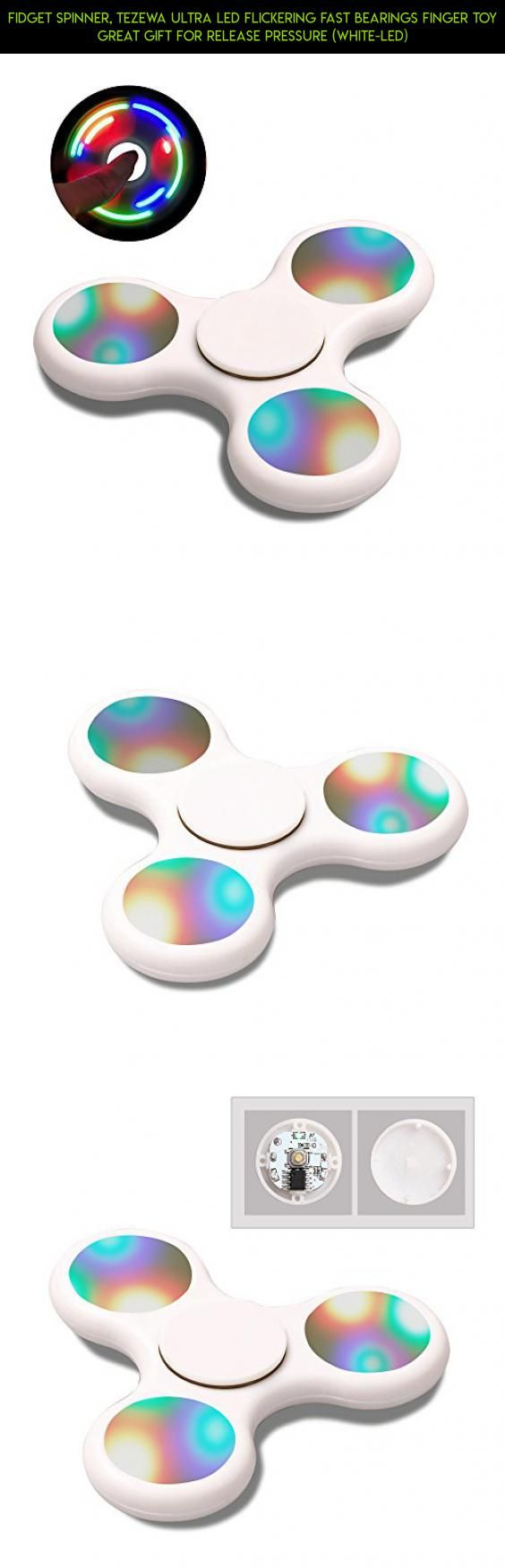 Fidget Spinner, Tezewa Ultra Led Flickering Fast Bearings Finger Toy Great Gift For Release Pressure (White-Led) #bearings #racing #no #gadgets #parts #drone #kit #products #spinner #tech #plans #fpv #shopping #technology #plastic #camera