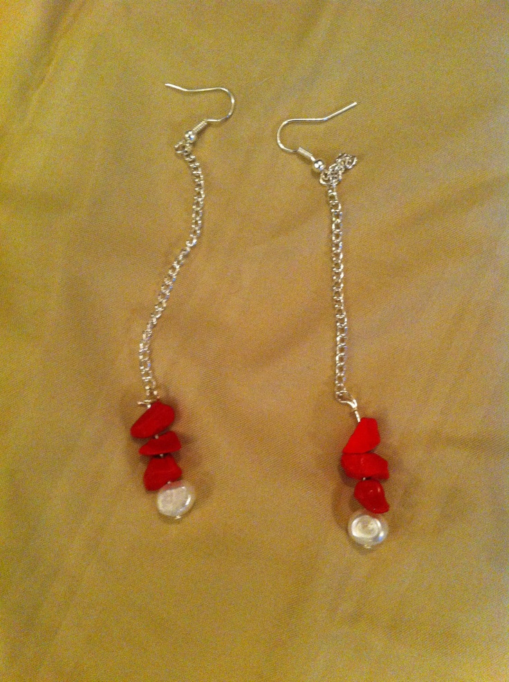 Pendulous Earrings with Pearls by LLSween on Etsy, $25.00