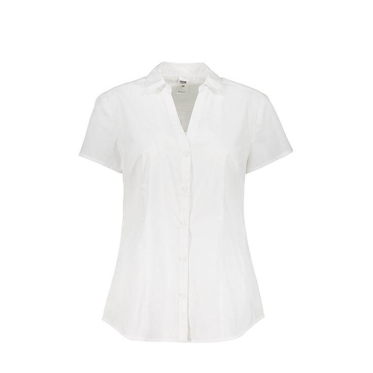 Short Sleeve Basic Work Shirt   Kmart