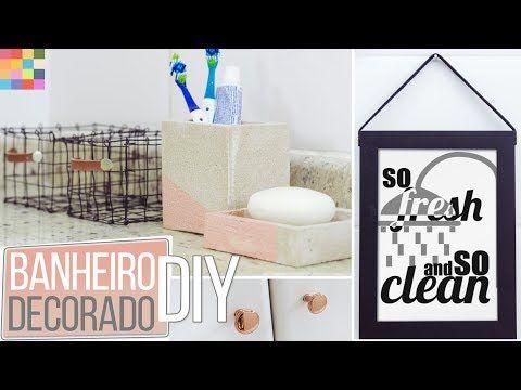 Banheiro decorado #2| Reforma gastando pouco - YouTube