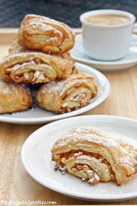 Apple-French bun of puff pastry