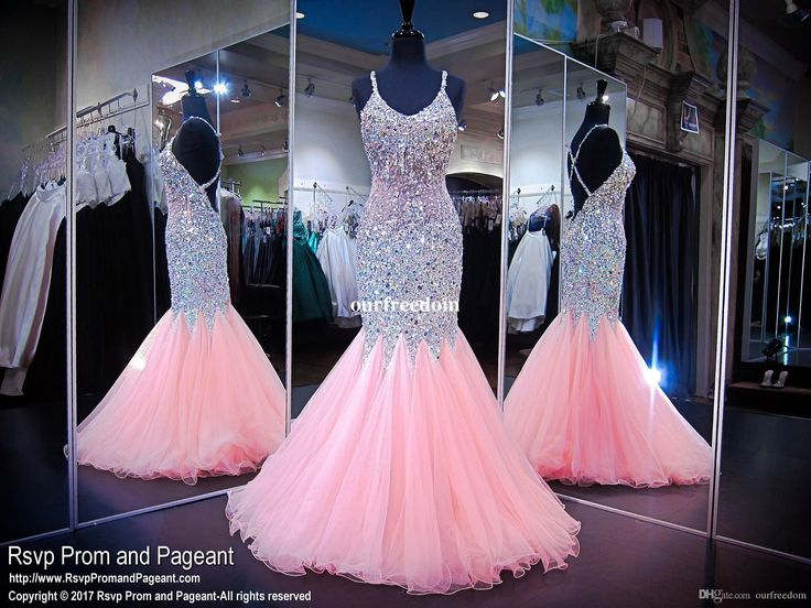 Luxury Pink Prom Evening Dresses Formal Pageant Gowns Mermaid Spaghetti Beaded Illusion Bodice Ruffled Backless Long Party Bridesmaid Dress Long Black Evening Dresses Uk Long Evening Dress Uk From Ourfreedom, $164.63| Dhgate.Com