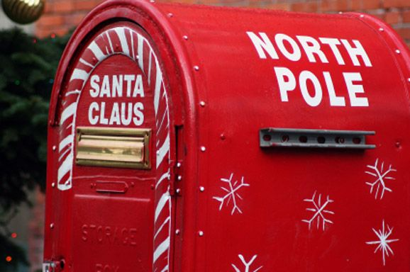 For next year:  Printable letter to Santa and how to get North Pole postmark!