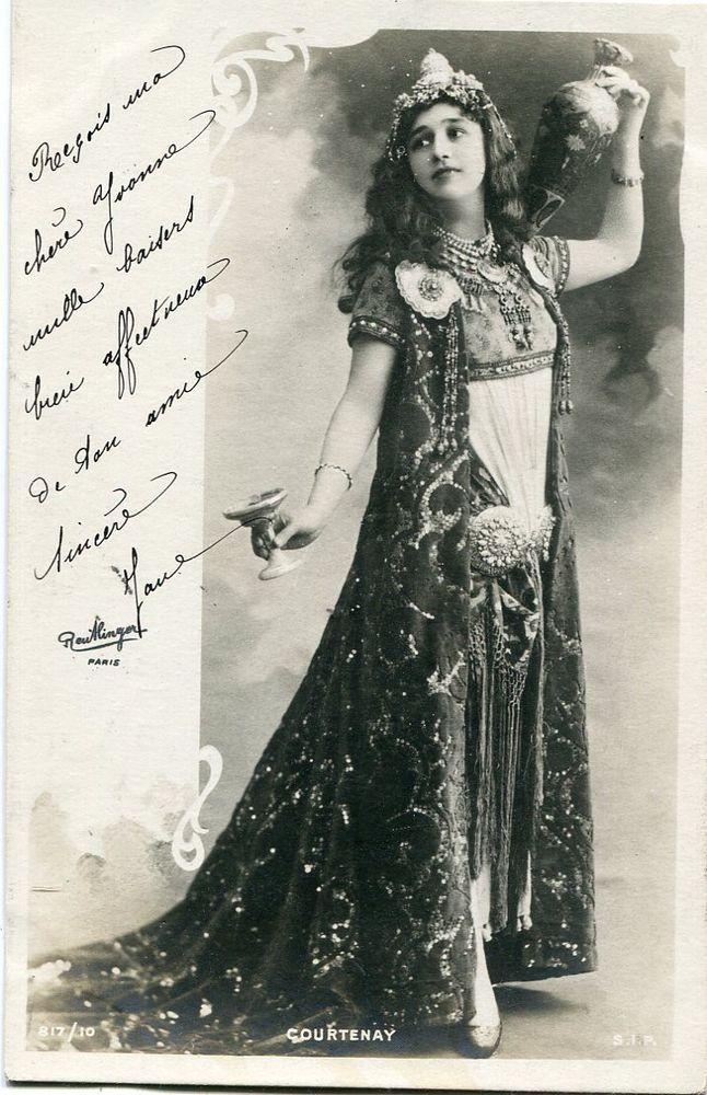 Vera Courtenay | Vintage French RPPC postcard - Actress miss Courtenay - Reutlinger N823