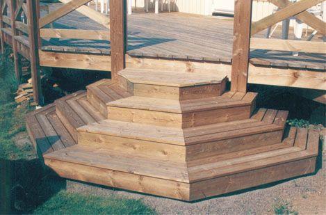Jag letar efter ritning på hur man gör en mer ovanlig trapp till utegolvet än normalt. Har ni idér på olika lösningar är jag tacksam.