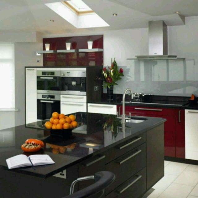 31 best Black red white kitchens images on Pinterest Kitchen