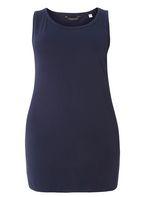 Womens DP Curve Plus Size Navy Jersey Vest- Blue