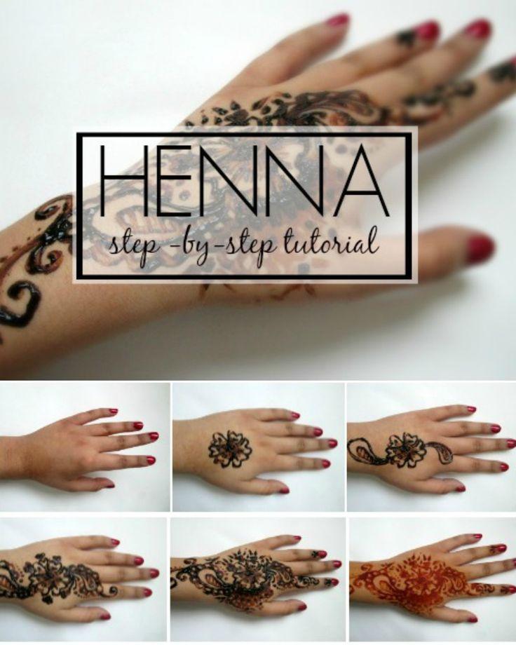 Henna Tattoo Tutorial : Images about henna on pinterest patterns
