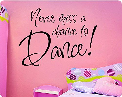 dance wall decals for a dancer s bedroom decorate with a