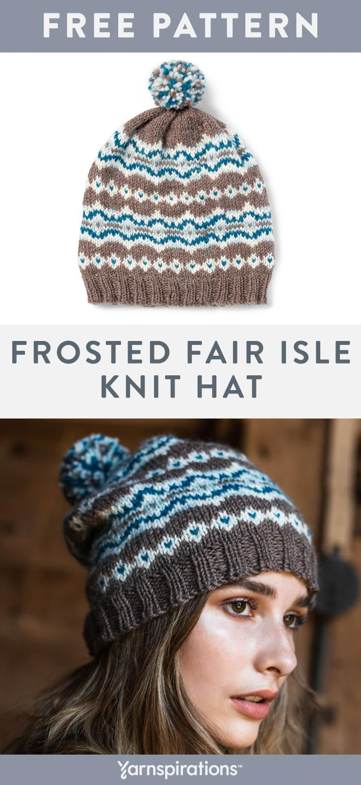 a80527f922a This free fair isle knit hat pattern works up beautifully using Patons  Classic Wool Worsted yarn.  Yarnspirations  Patons  PatonsClassicWool   FairIsle ...