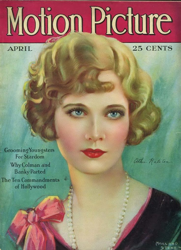 Motion picture esther ralston by marland stone 1928 for Old magazines