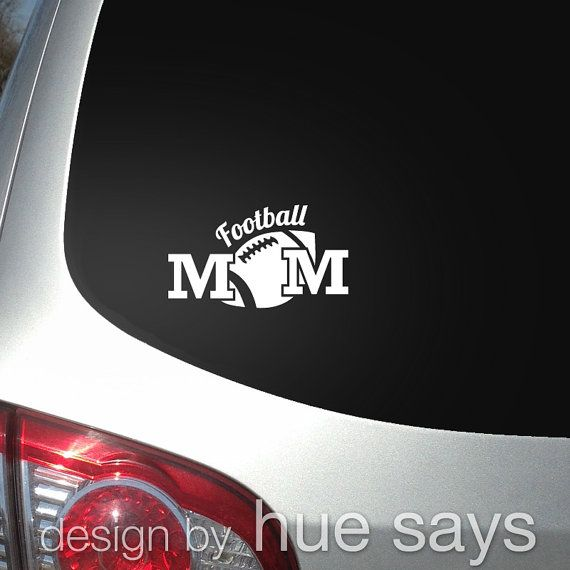 Window sticker car decal sports football mom