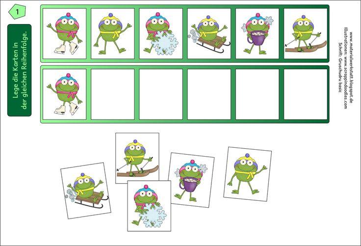 Diese Kartei besteht aus 20 Karten. Auf jeder Karteikarte sollen 6 Bilder in der gleichen Reihenfolge darunter gelegt werden.     Download