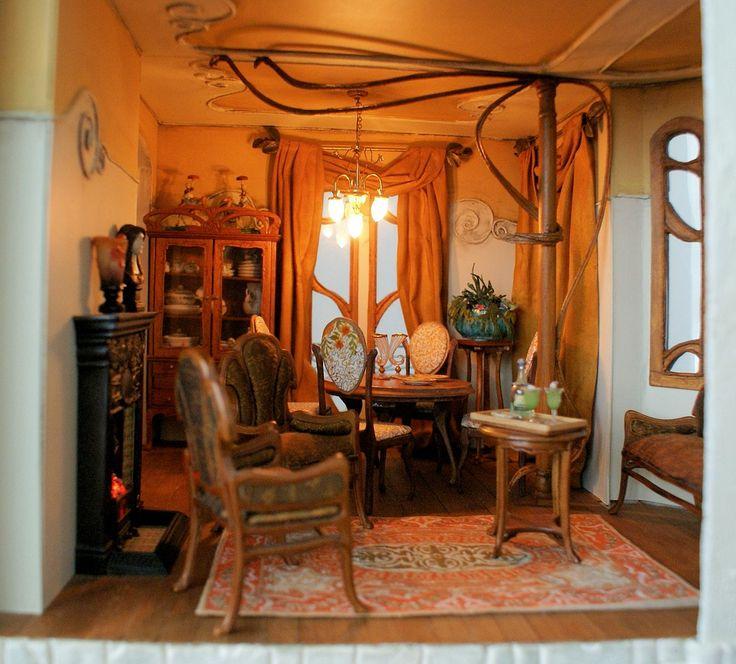 Bathroom Art Nouveau: 17 Best Images About My Art Nouveau Dollhouse On Pinterest