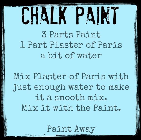 Recipe for Chalk Paint Furniture | upcycle furniture with chalk paint | Make Create Do