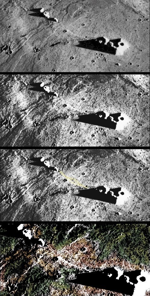odd structures as seen from above | NASA smoking gun clear photo of structures on moon(direct link from ...:
