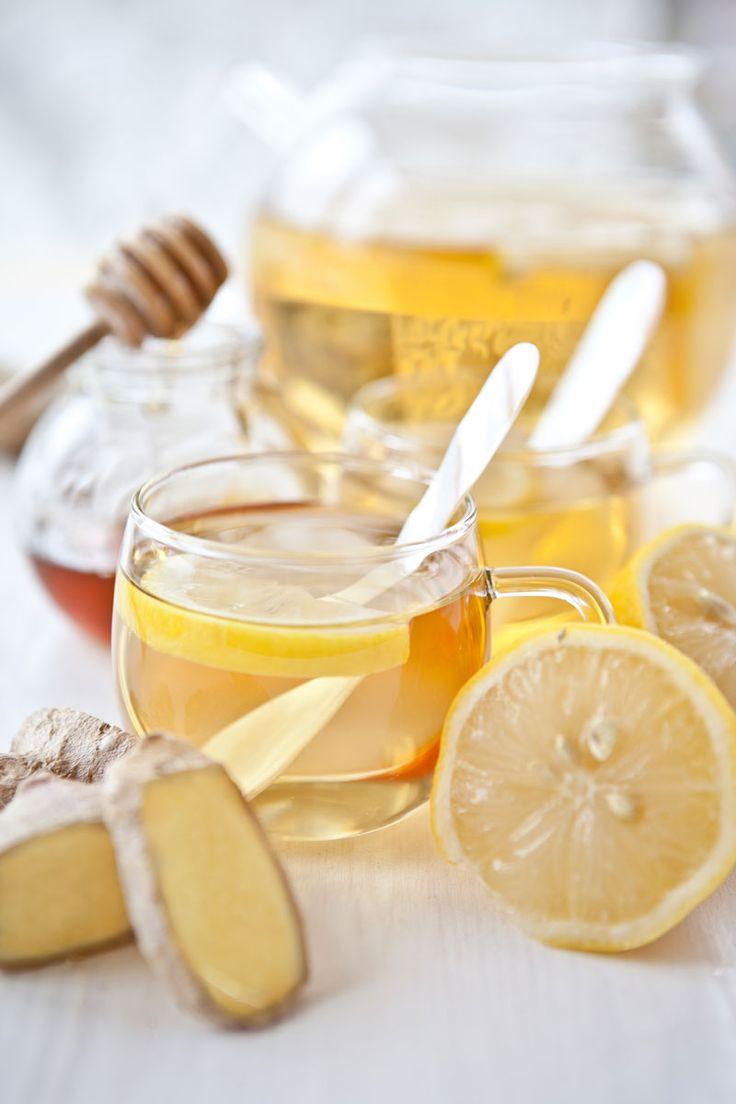 Remède contre la toux : citron, gingembre, miel et thym