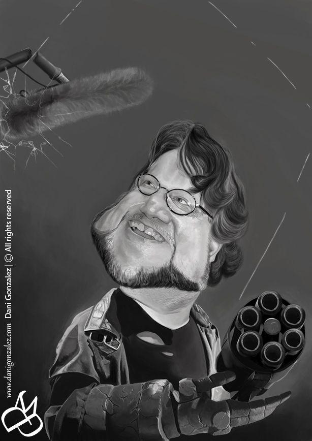#GUILLERMO DEL #TORO #Caricature by #Dani #Gonzalez www.danigonzalez.com