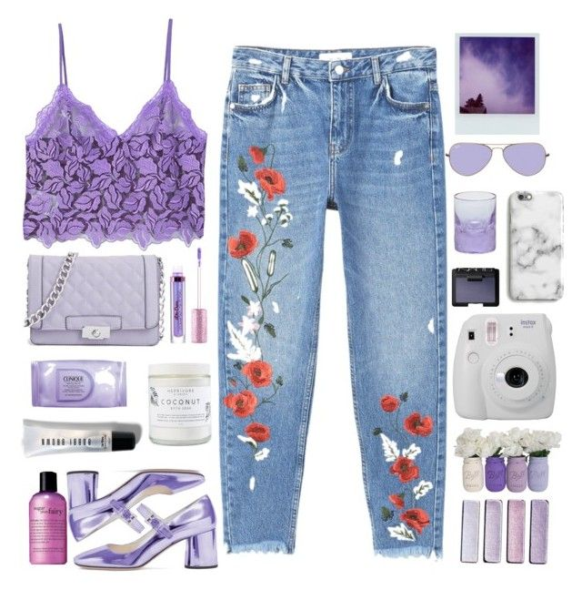 """""""Purple"""" by piinkroses ❤ liked on Polyvore featuring MANGO, Polaroid, NARS Cosmetics, philosophy, Clinique, Ray-Ban, Moser, Lime Crime, Herbivore and Bobbi Brown Cosmetics"""