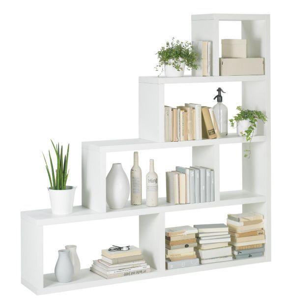 """""""Praktisk rumsavdelare från BOXXX i vit dekor med sex öppna fack i olika storlekar. Placera den mot väggen som bokhylla eller mitt i rummet för att dela av ett rum."""""""