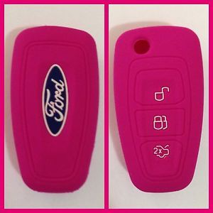 pink accessories ford focus 2012   Ford Pink CAR Flip KEY Remote Cover Case Ranger Focus Fiesta Mondeo ...