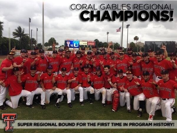 Texas Tech Baseball heading to Super Regionals!! WRECK 'EM!!