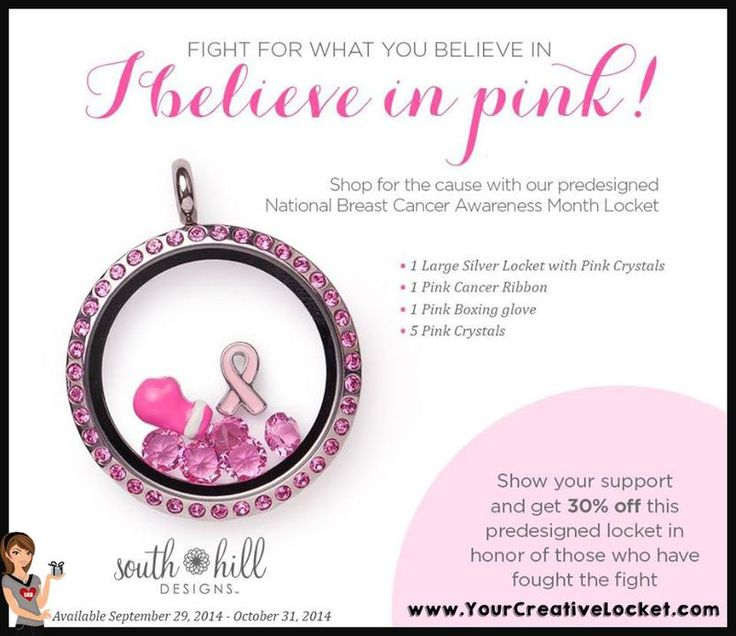 Special Price: Breast Cancer Awareness Locket  For every 3 of lockets I sell, I will donate 1
