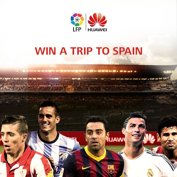 Huawei is giving its fans the chance to watch their favorite Spanish Football League Stars live in Spain!