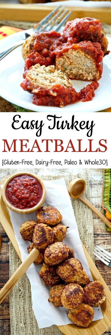 Easy Turkey Meatballs - 400 degrees for 20 minutes. I didn't pan fry first or roll in almond flour.