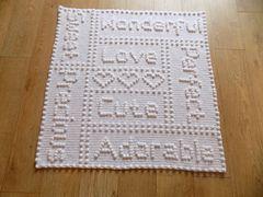 Ravelry: Precious Words One - Piece Baby Blanket pattern by Peach. Unicorn