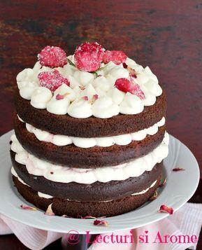 Tort cu blat umed si crema de mascarpone cu ciocolata alba
