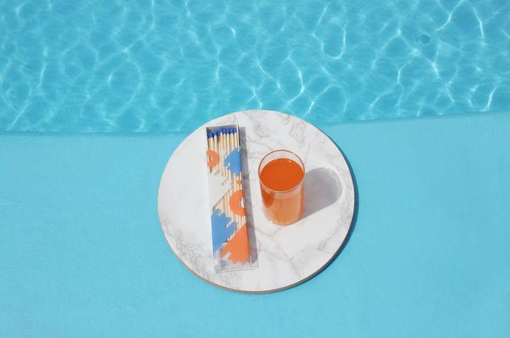 #Summer #matchbox and orange fanta! #pool #cool #blue #water