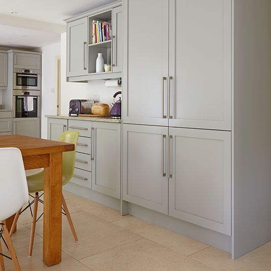 Welcoming White Kitchen Is Illuminated By Regina Andrew: 1000+ Ideas About Grey Shaker Kitchen On Pinterest