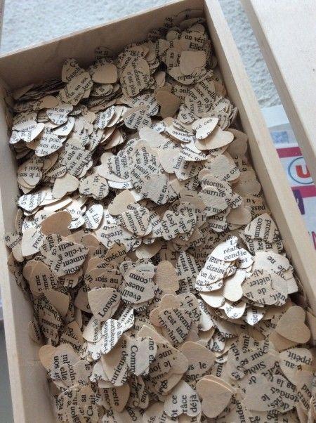 Préparations des confettis ... Ca prend un peu de temps !!