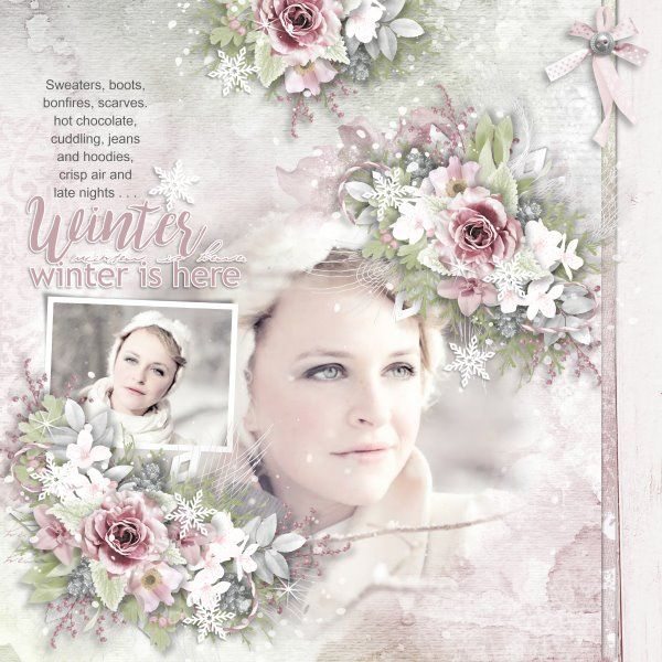 Template Snow Excited by Heartstrings Scrap Art. Kit Winter Is Here by Eudora Designs. Photos from Desktop Nexus.