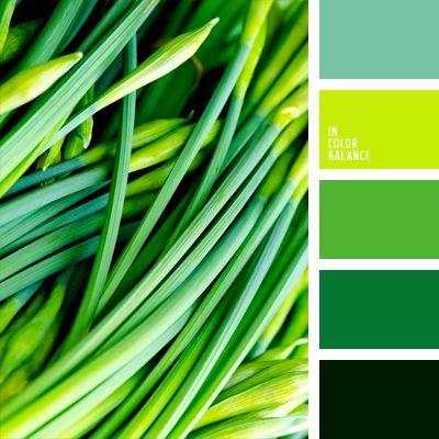 color chartreuse, color verde azulado, color verde lechuga, color verde primavera oscuro, elección del color, paleta de colores monocromática, paleta del color verde monocromática, selección de colores para una cocina, tonos verdes, turquesa, verde manzana, verde oliva oscuro, verde