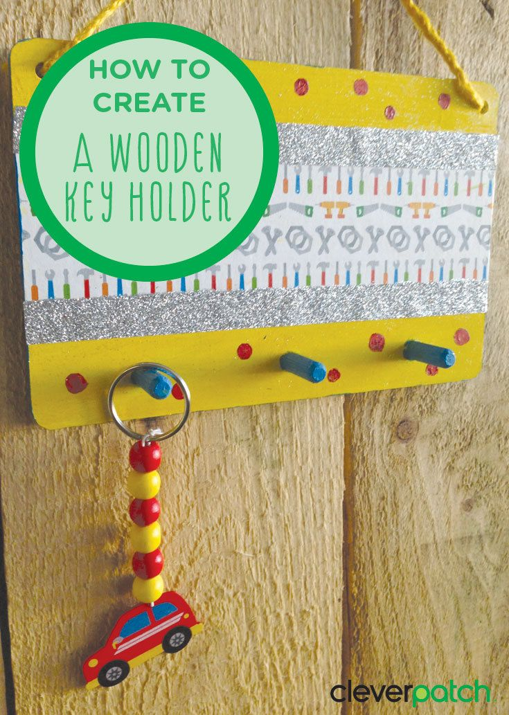 Dad will never lose his keys with this super cute DIY key holder!