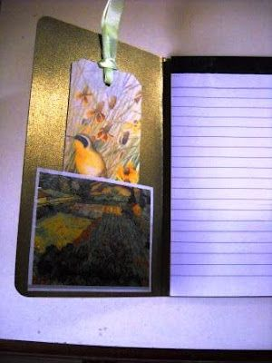 Notepad with cover and bookmark